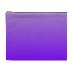 Wisteria To Violet Gradient Cosmetic Bag (xl)