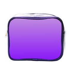 Wisteria To Violet Gradient Mini Travel Toiletry Bag (one Side)