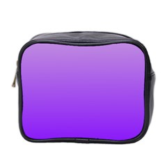 Wisteria To Violet Gradient Mini Travel Toiletry Bag (two Sides)