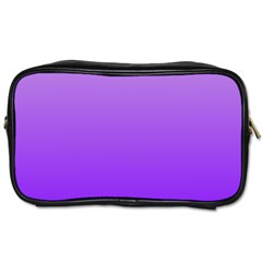 Wisteria To Violet Gradient Travel Toiletry Bag (Two Sides)