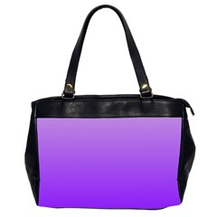 Wisteria To Violet Gradient Oversize Office Handbag (Two Sides)