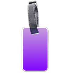Wisteria To Violet Gradient Luggage Tag (Two Sides)