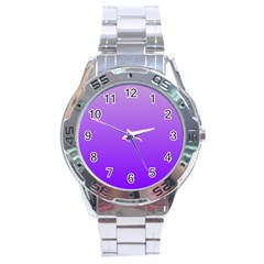 Wisteria To Violet Gradient Stainless Steel Watch (Men s)