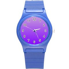 Wisteria To Violet Gradient Plastic Sport Watch (small)