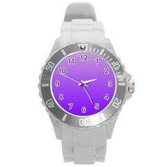 Wisteria To Violet Gradient Plastic Sport Watch (Large)