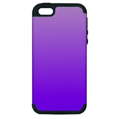 Wisteria To Violet Gradient Apple iPhone 5 Hardshell Case (PC+Silicone)