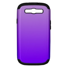 Wisteria To Violet Gradient Samsung Galaxy S Iii Hardshell Case (pc+silicone)