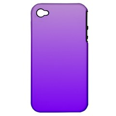 Wisteria To Violet Gradient Apple iPhone 4/4S Hardshell Case (PC+Silicone)