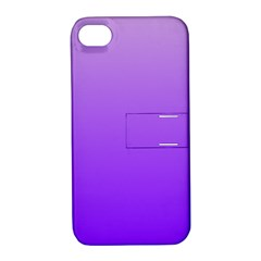 Wisteria To Violet Gradient Apple iPhone 4/4S Hardshell Case with Stand