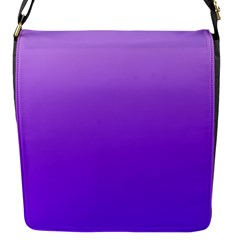 Wisteria To Violet Gradient Flap closure messenger bag (Small)
