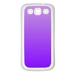 Wisteria To Violet Gradient Samsung Galaxy S3 Back Case (white)