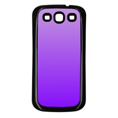 Wisteria To Violet Gradient Samsung Galaxy S3 Back Case (Black)