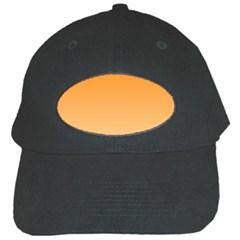 Orange To Peach Gradient Black Baseball Cap