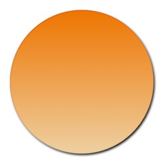 Orange To Peach Gradient 8  Mouse Pad (Round)