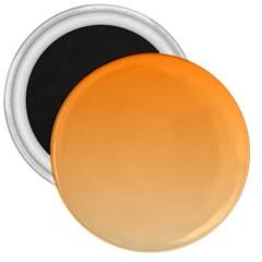 Orange To Peach Gradient 3  Button Magnet