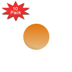 Orange To Peach Gradient 1  Mini Button (10 pack)