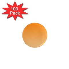 Orange To Peach Gradient 1  Mini Button Magnet (100 Pack)