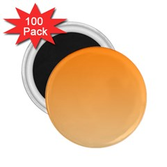Orange To Peach Gradient 2 25  Button Magnet (100 Pack)