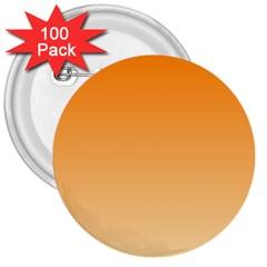 Orange To Peach Gradient 3  Button (100 pack)
