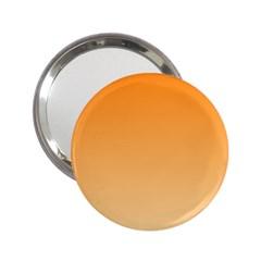 Orange To Peach Gradient Handbag Mirror (2.25 )