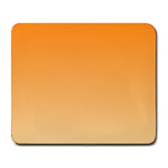 Orange To Peach Gradient Large Mouse Pad (Rectangle)