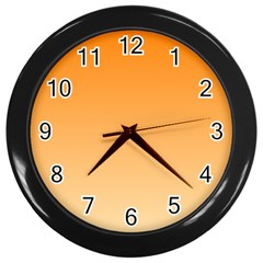 Orange To Peach Gradient Wall Clock (black)