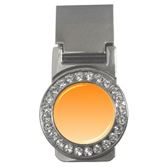 Orange To Peach Gradient Money Clip (CZ)