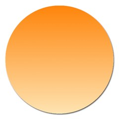 Orange To Peach Gradient Magnet 5  (Round)