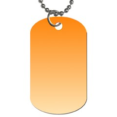 Orange To Peach Gradient Dog Tag (one Sided)