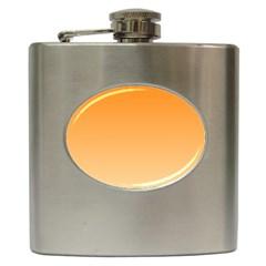 Orange To Peach Gradient Hip Flask