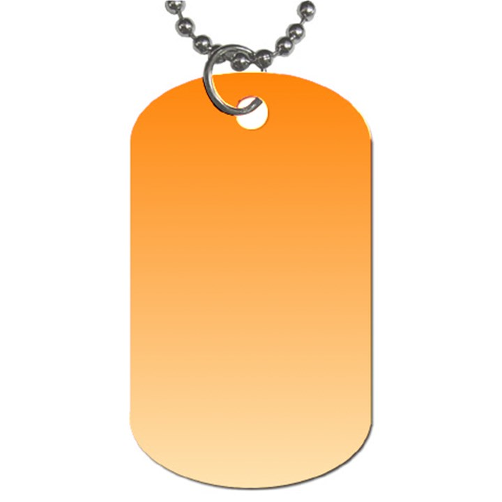 Orange To Peach Gradient Dog Tag (Two Sided)