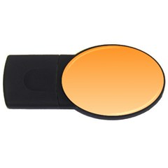 Orange To Peach Gradient 1GB USB Flash Drive (Oval)