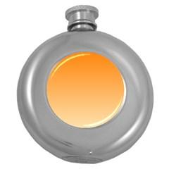 Orange To Peach Gradient Hip Flask (Round)