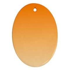 Orange To Peach Gradient Oval Ornament (two Sides)