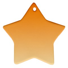 Orange To Peach Gradient Star Ornament (Two Sides)