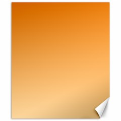 Orange To Peach Gradient Canvas 8  x 10  (Unframed)