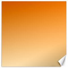 Orange To Peach Gradient Canvas 20  x 20  (Unframed)