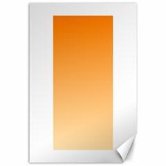 Orange To Peach Gradient Canvas 24  x 36  (Unframed)