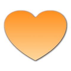 Orange To Peach Gradient Mouse Pad (Heart)