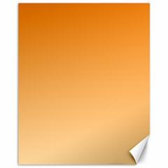 Orange To Peach Gradient Canvas 11  x 14  (Unframed)