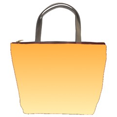Orange To Peach Gradient Bucket Bag