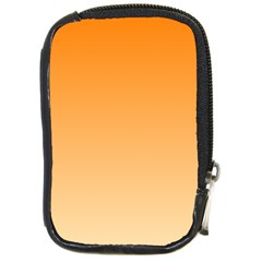 Orange To Peach Gradient Compact Camera Leather Case