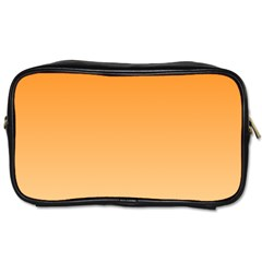 Orange To Peach Gradient Travel Toiletry Bag (One Side)