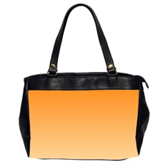 Orange To Peach Gradient Oversize Office Handbag (Two Sides)