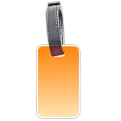 Orange To Peach Gradient Luggage Tag (One Side)