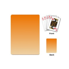 Orange To Peach Gradient Playing Cards (mini)