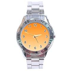 Orange To Peach Gradient Stainless Steel Watch (Men s)