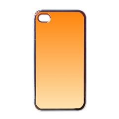 Orange To Peach Gradient Apple iPhone 4 Case (Black)