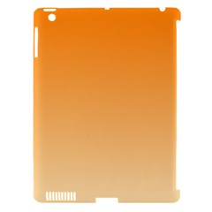 Orange To Peach Gradient Apple iPad 3/4 Hardshell Case (Compatible with Smart Cover)
