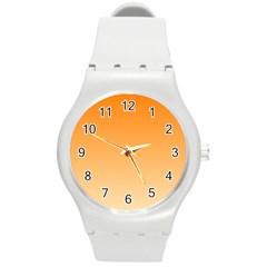 Orange To Peach Gradient Plastic Sport Watch (Medium)
